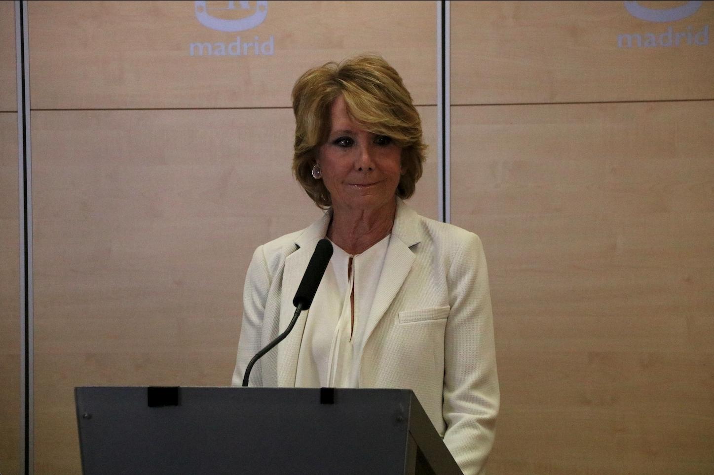 L'expresidenta de la Comunidad de Madrid, Esperanza Aguirre, en una imatge d'arxiu | ACN