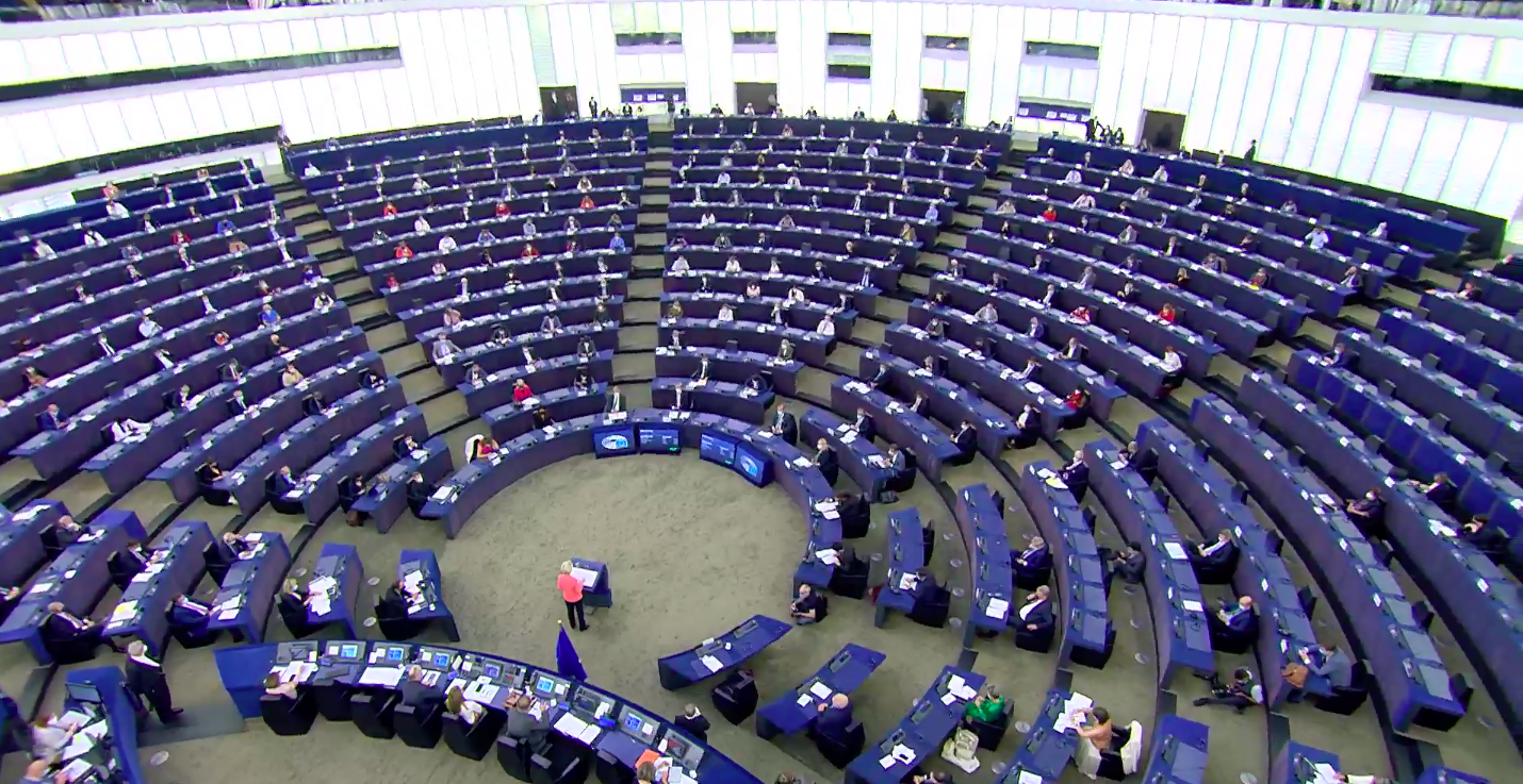 El Parlament d'Estrasburg, durant el debat de l'estat de la Unió