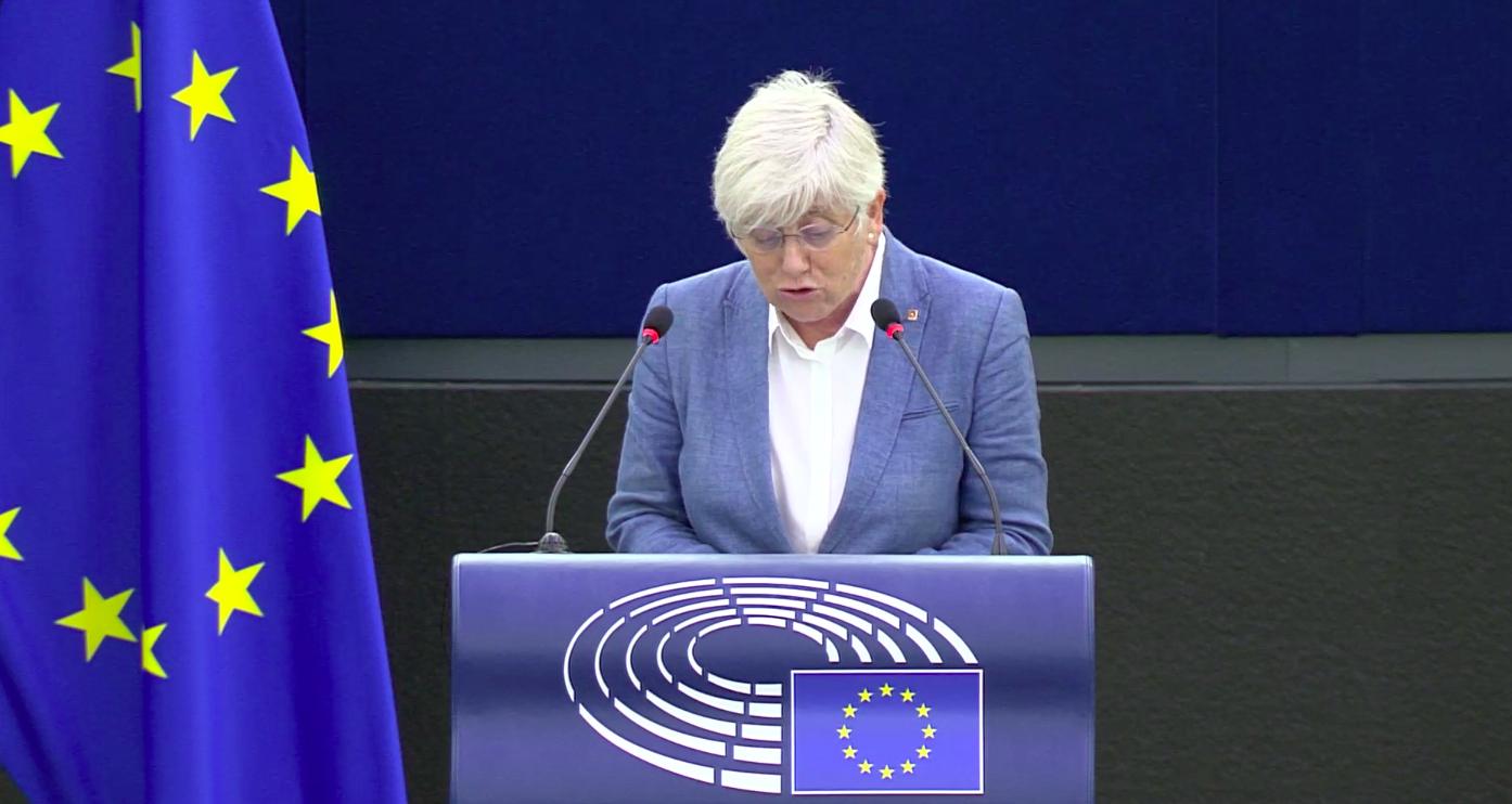 Clara Ponsatí, en el debat de l'estat de la Unió, el 15 de setembre del 2021