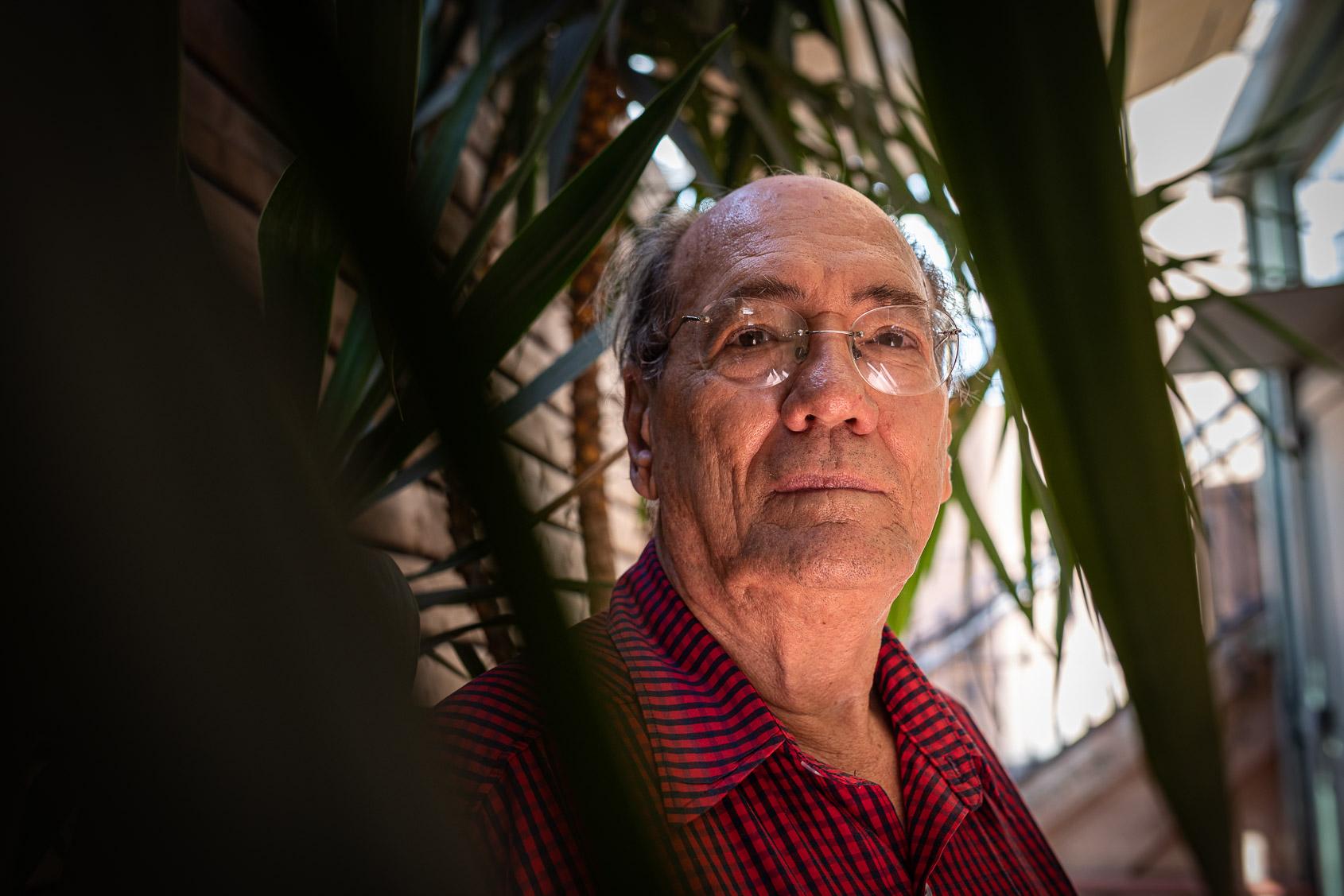 Josep Maria Murià durant la conversa amb El Món per a presentar 'A Jalisco, per Catalunya' / Jordi Borràs