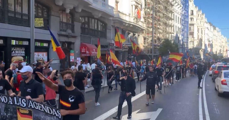Manifestació de neonazis a Chueca / Europa Press