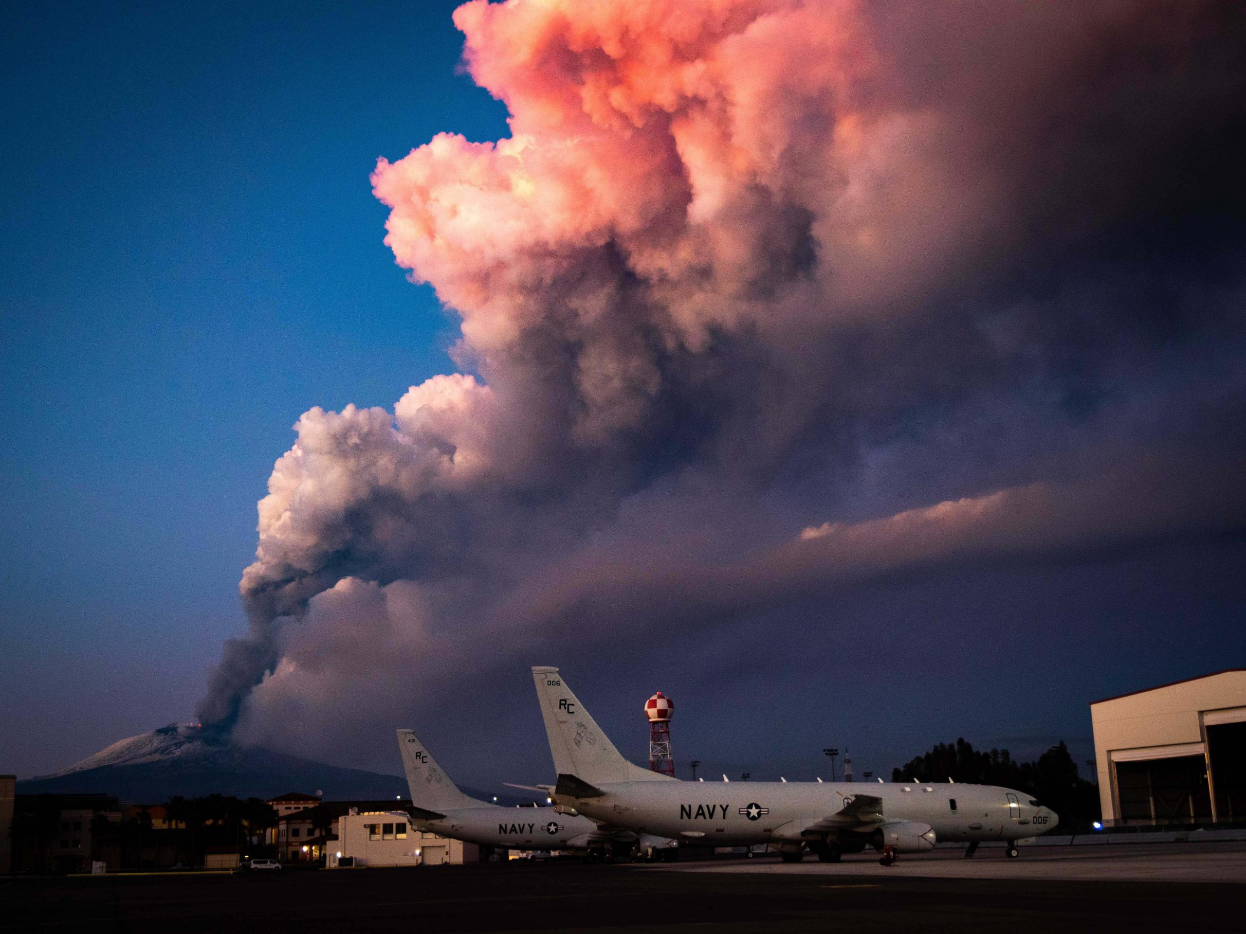 Imatge d'arxiu d'una erupció de l'Etna   Europa Press