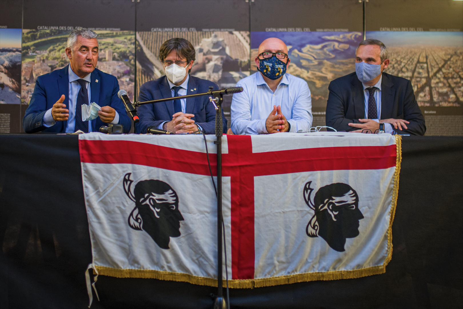 Roda de premsa d'aquest dissabte a l'Alguer   Europa Press