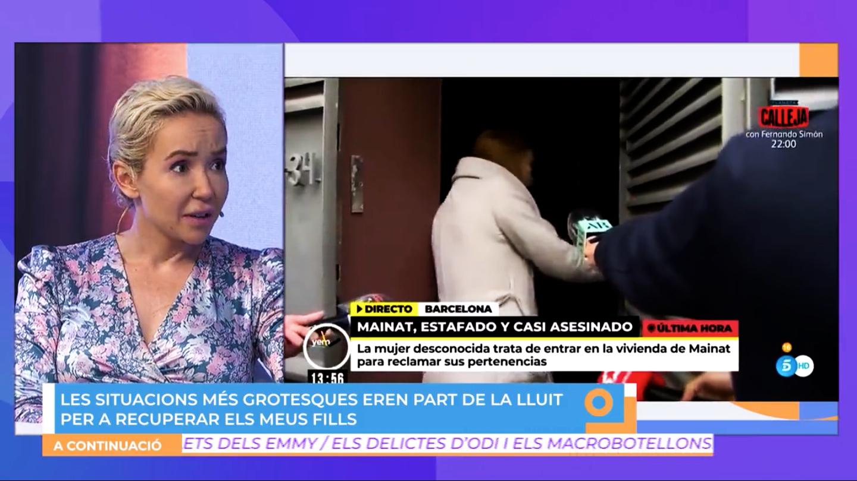 Angela Dobrowolski, en una entrevista a 8TV