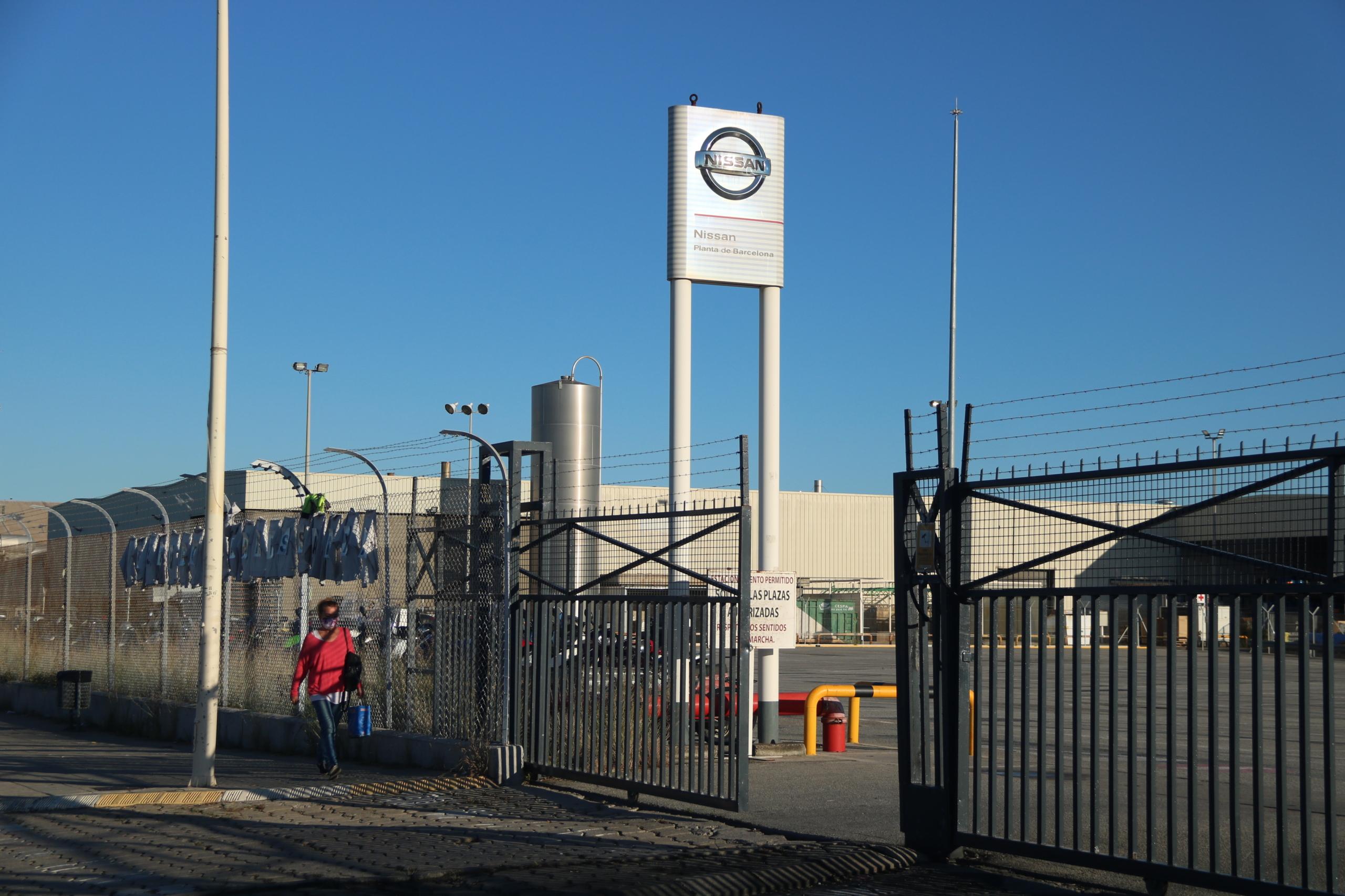 L'entrada de la planta de la Zona Franca, el 31 d'agost de 2020 / ACN