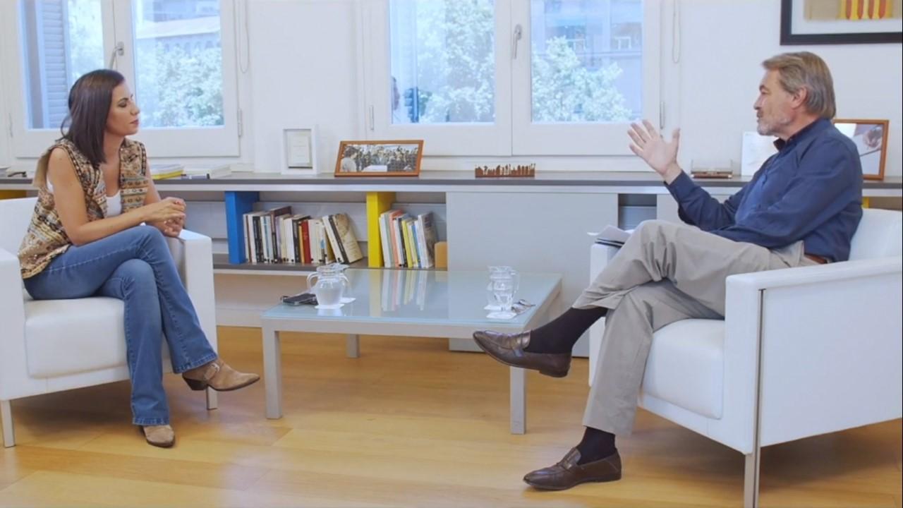 Artur Mas amb Ana Pastor a la seva oficina d'expresident / Oficina President Mas