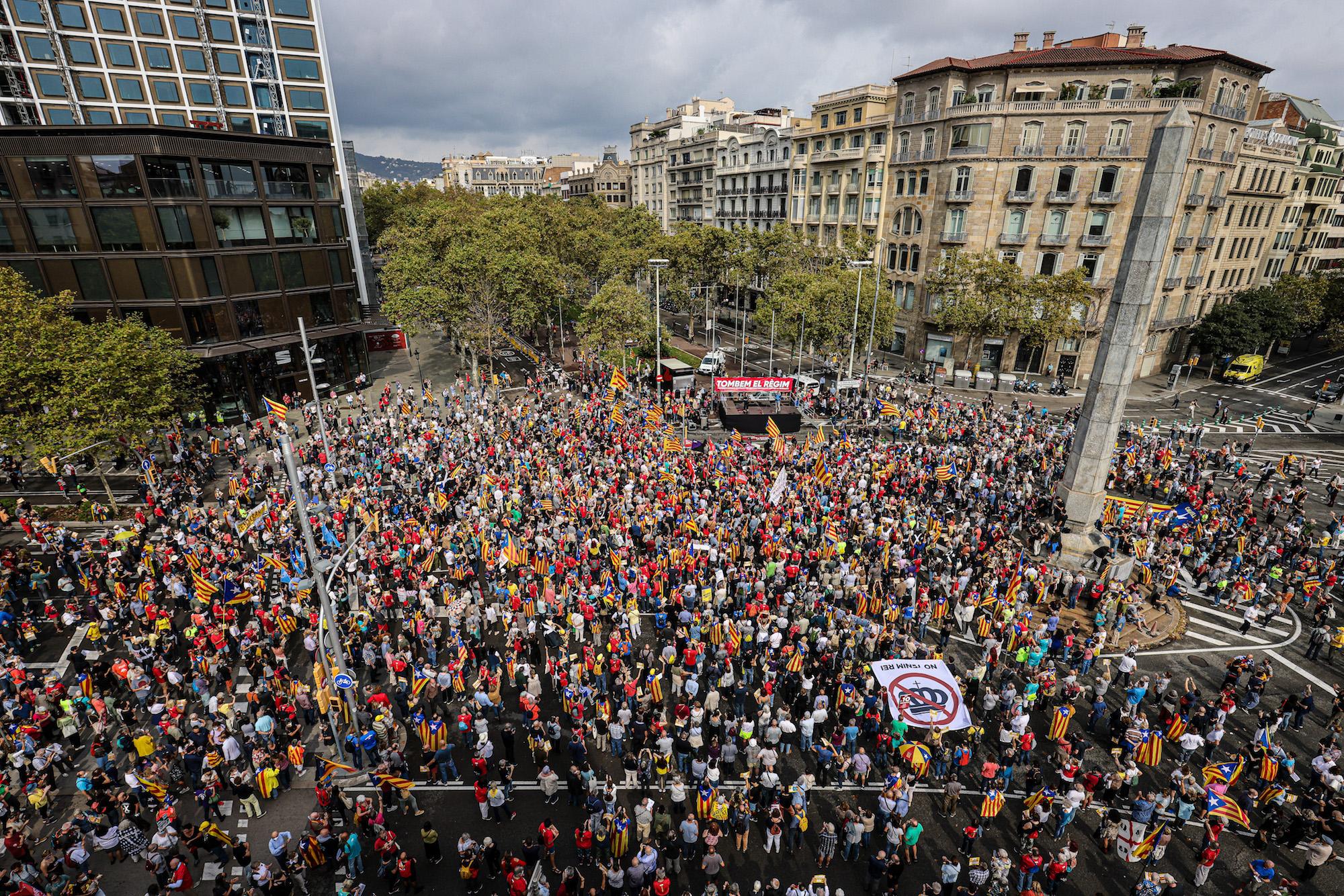Acte del quart aniversari del 3-O al Cinc d'Oros, a Barcelona / Jordi Borràs