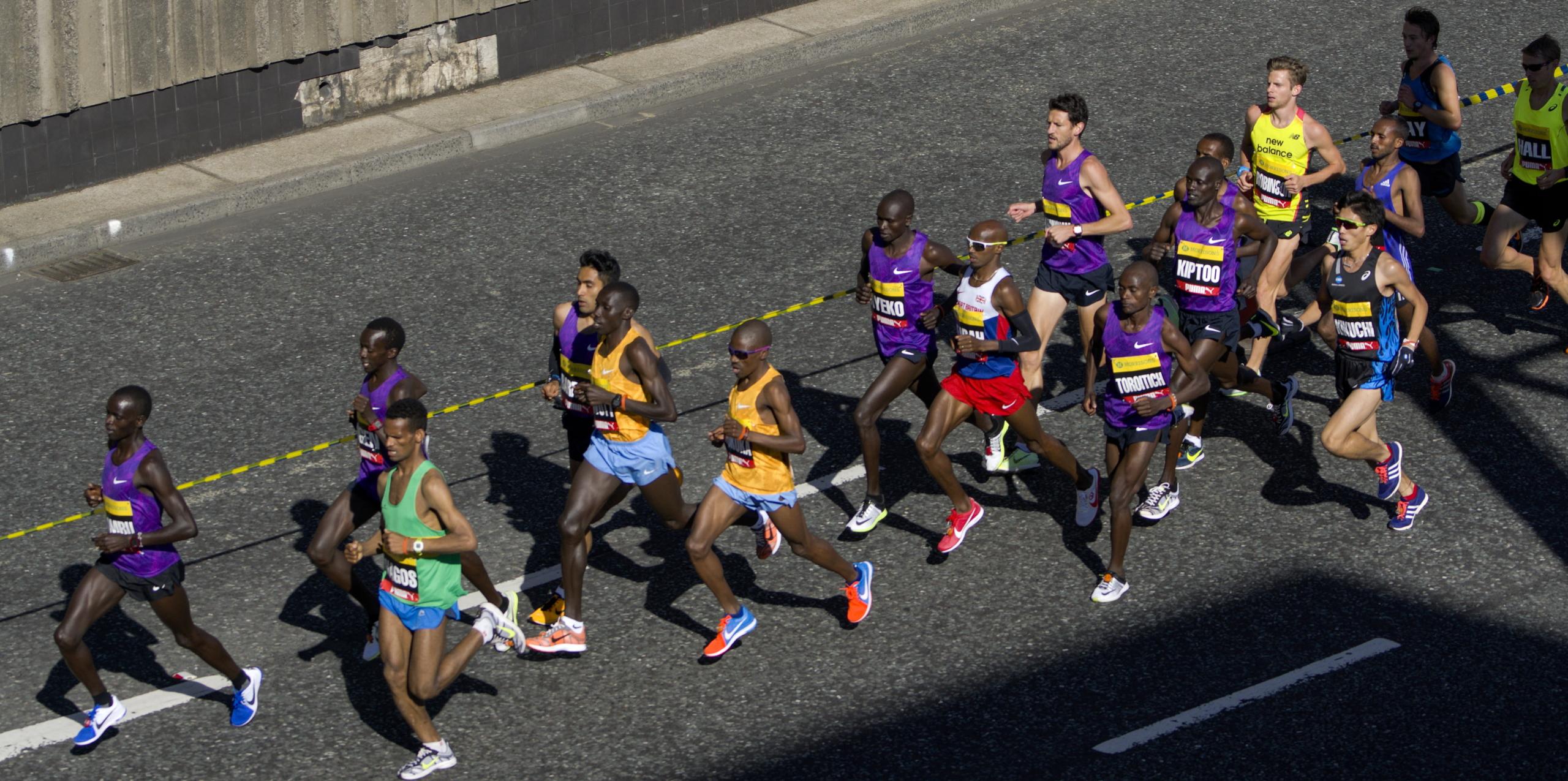 Corredors en una marató de Londres / Piqsels