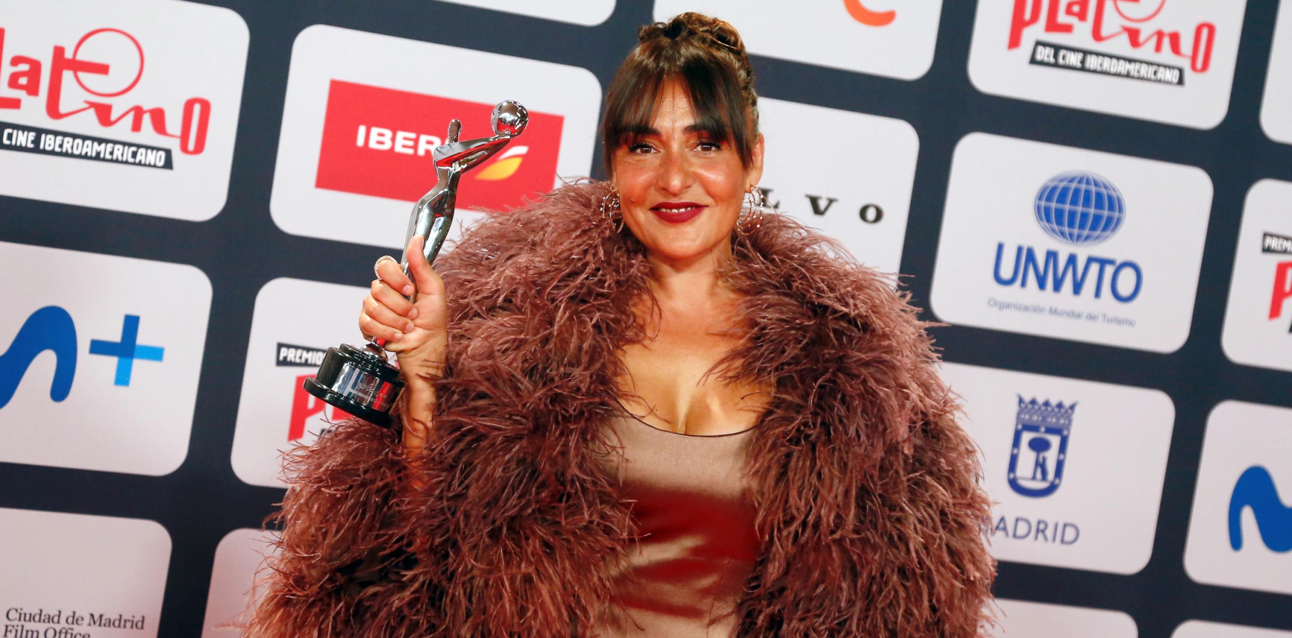 Candela Peña, guanyadora d'un premi Platino - Europa Press