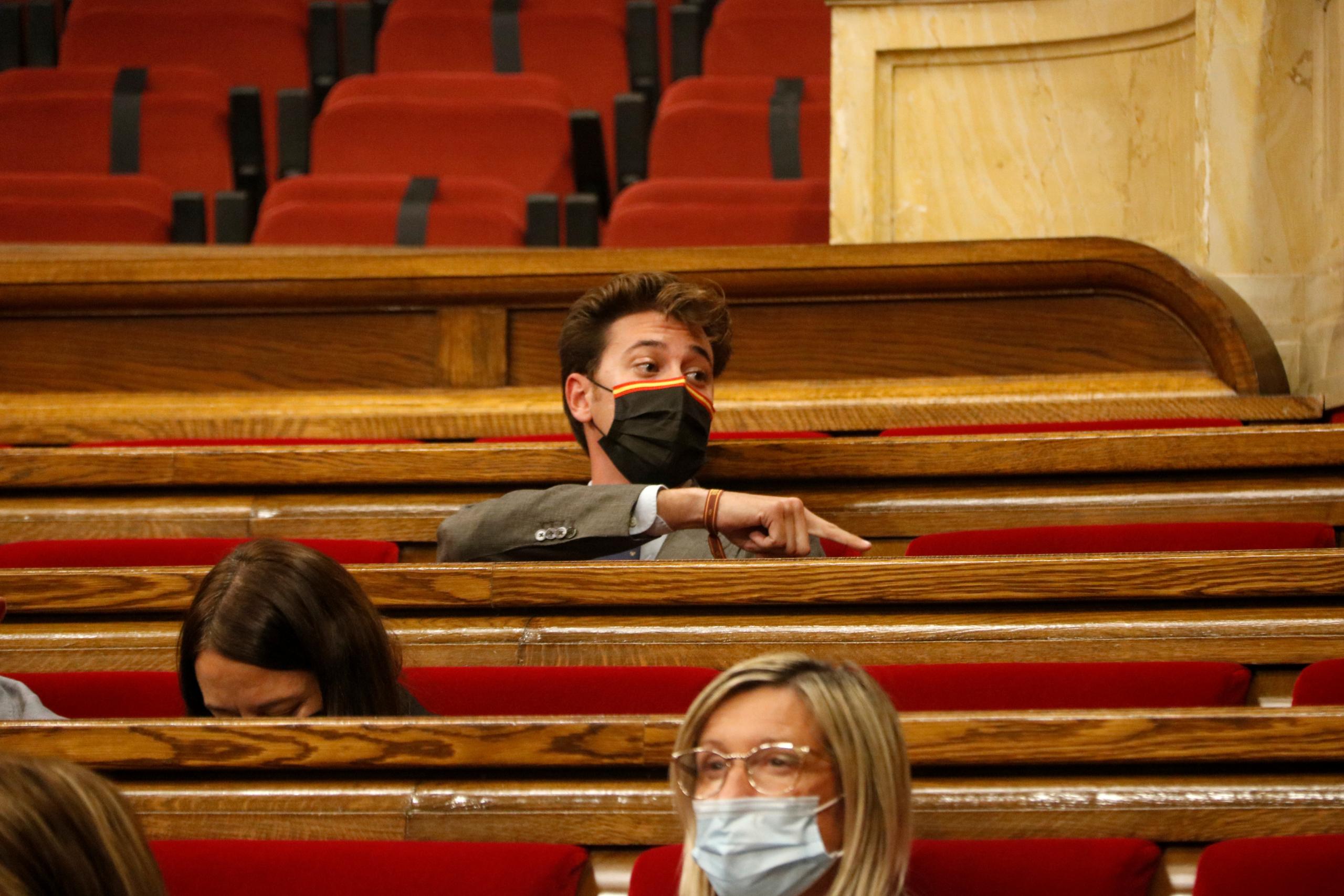 El diputat de Vox Alberto Tarradas al ple del Parlament, avui / ACN