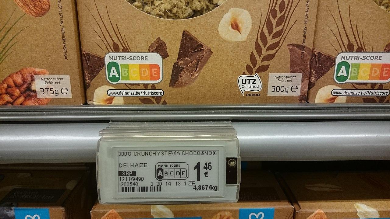L'etiquetatge Nutriscore en una caixa de cereals / Wikipedia