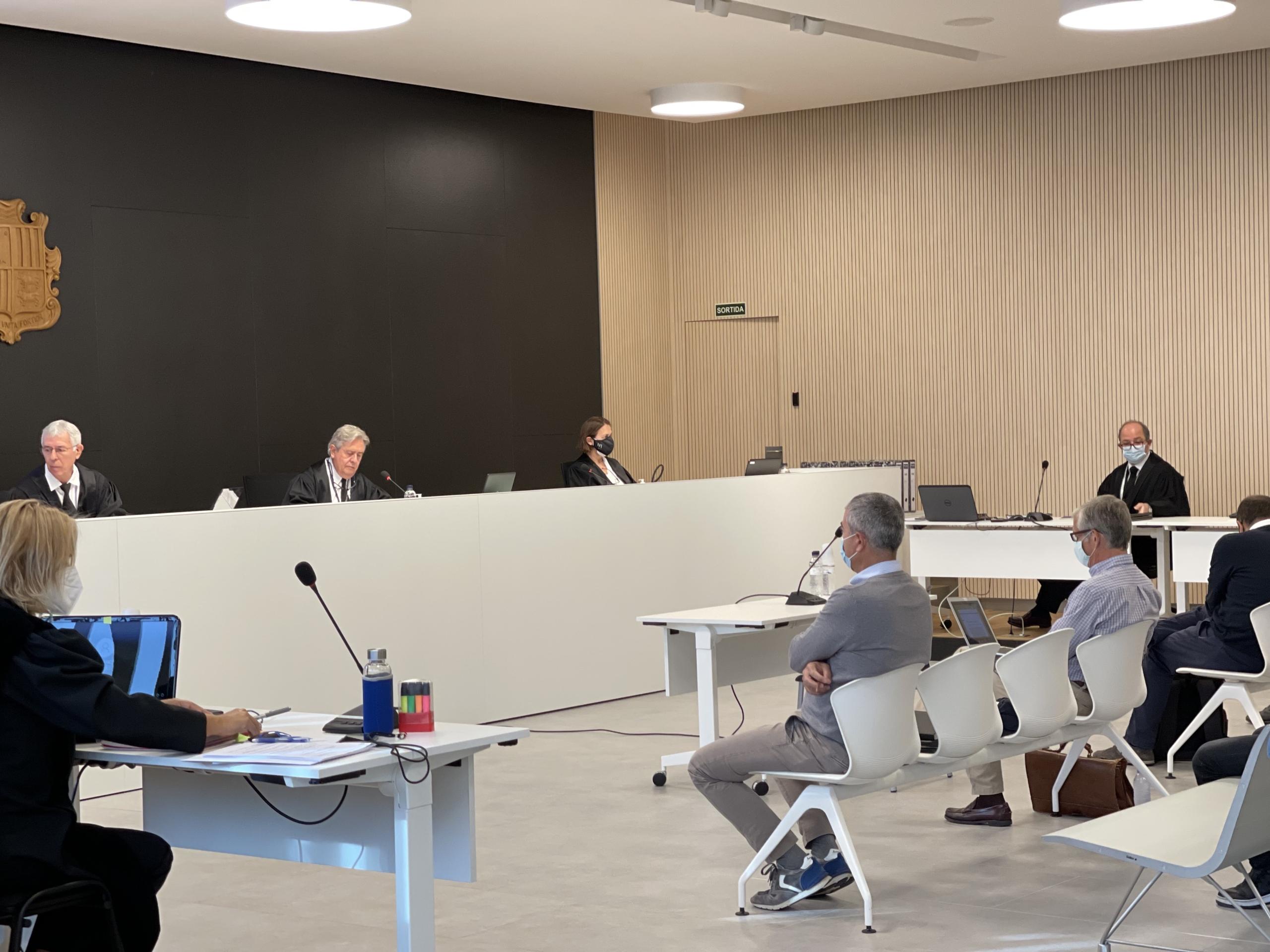 Joan Paul Miquel, en un moment de les sessions del judici/Quico Sallés