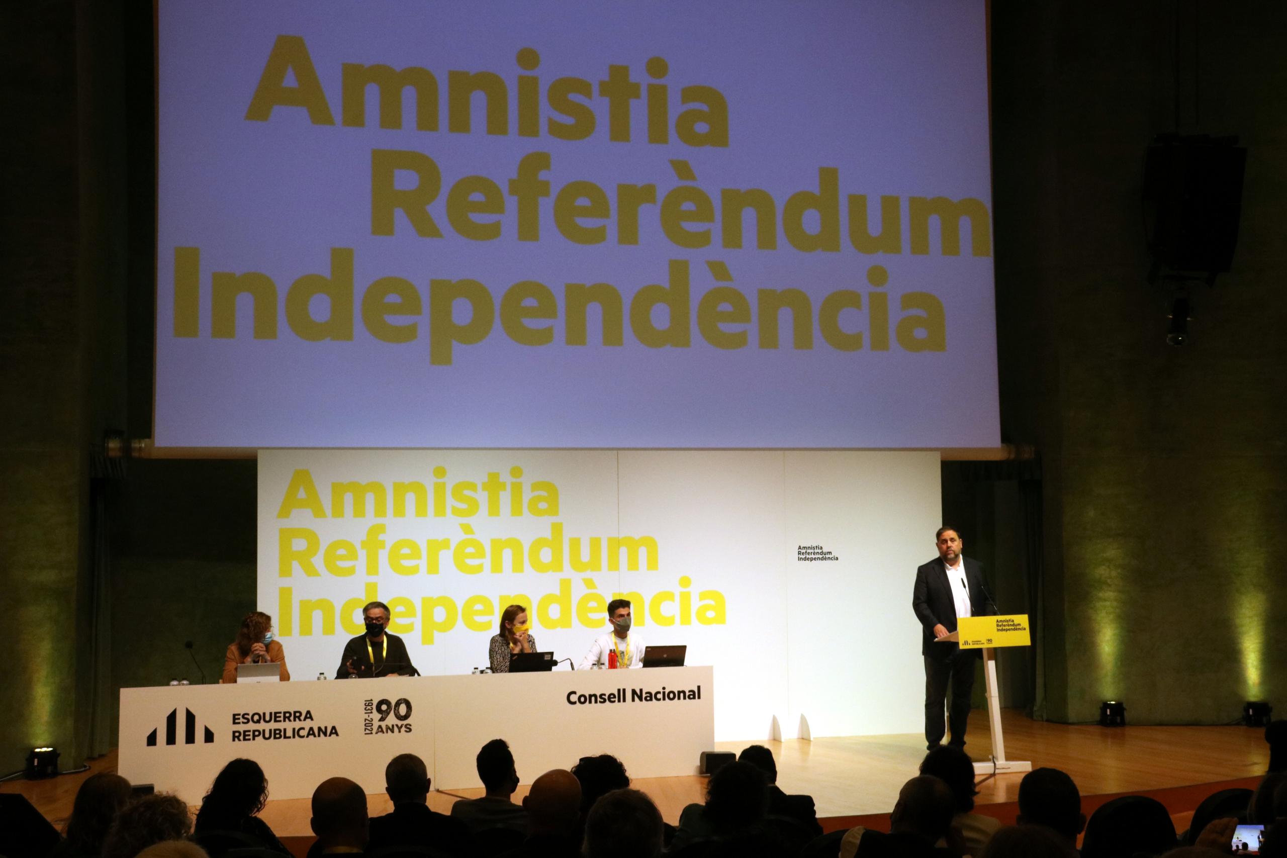 El president d'ERC, Oriol Junqueras, al Consell Nacional (ACN)