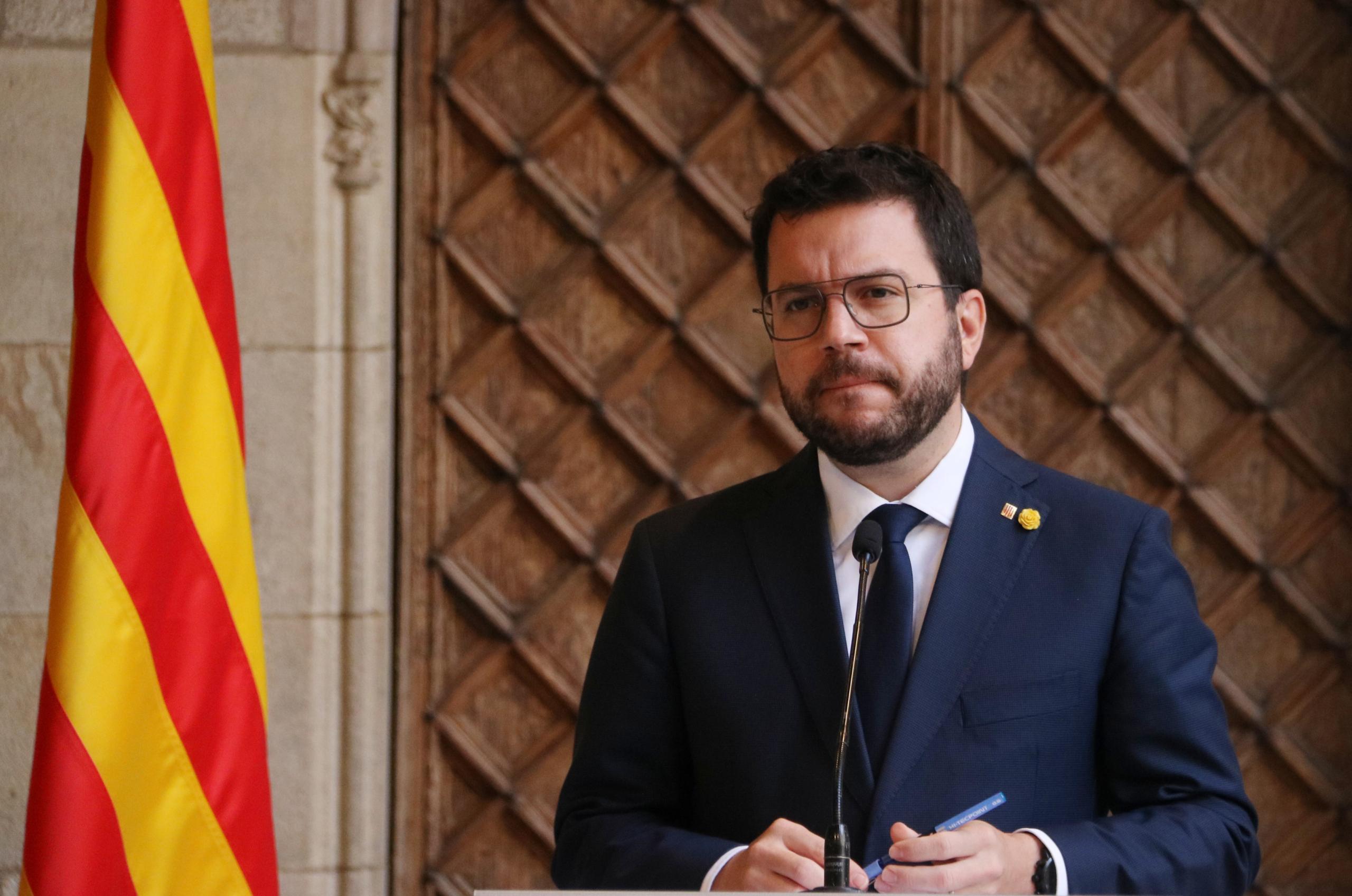 Primer pla del president de la Generalitat, Pere Aragonès / ACN