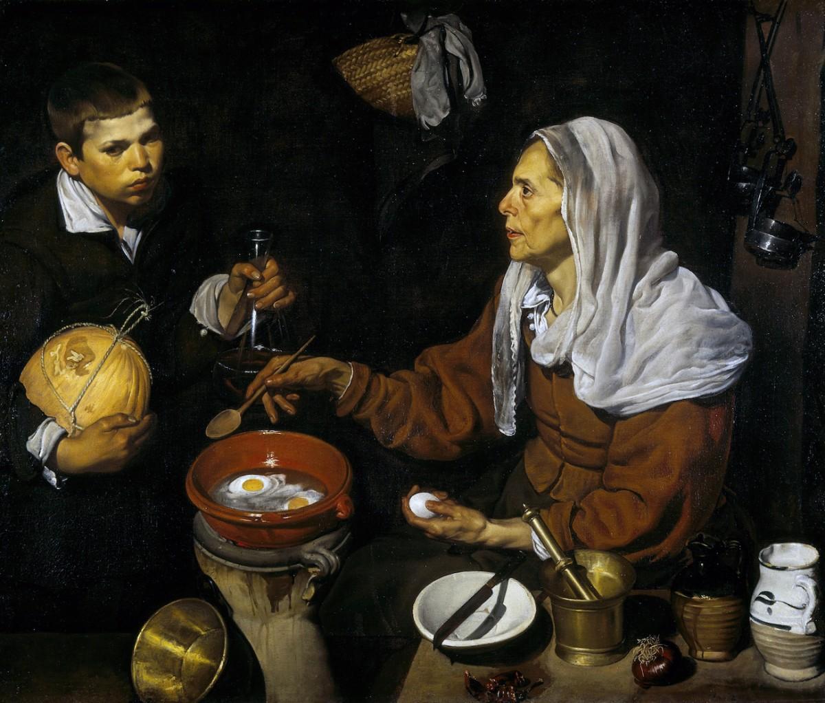 Vieja friendo huevos, Velázquez