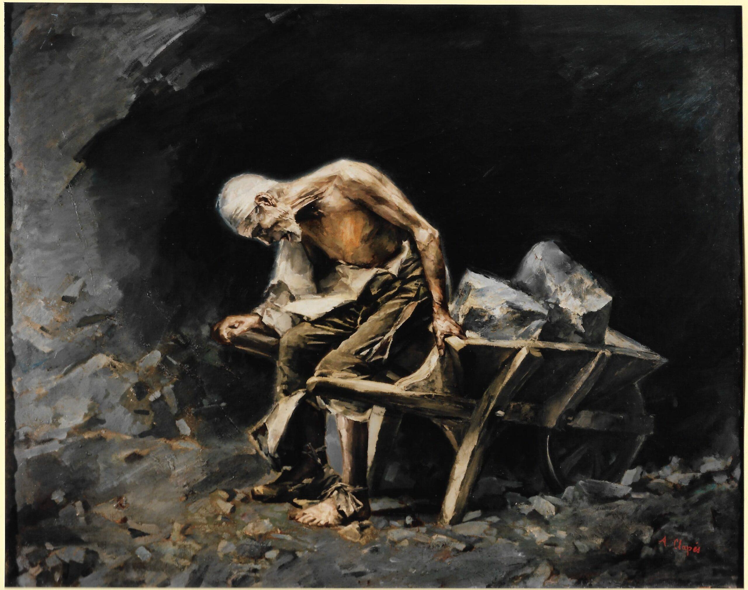 """""""El peó"""", d'Aleix Clapés, trobat i restaurat per la Diputació de Barcelona. Al Palau Güell, fins al 30 de maig. Imatge: Diputació de Barcelona"""