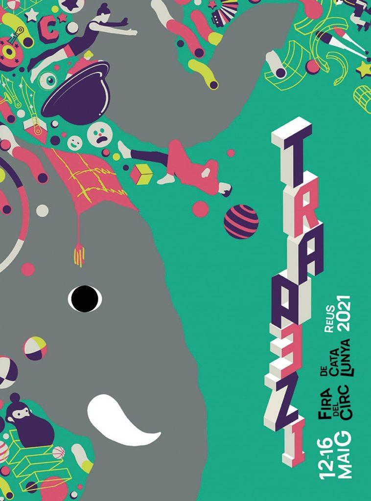 Cartell de la 25 edició de la Fira de Circ de Catalunya Trapezi / Marc Sardà