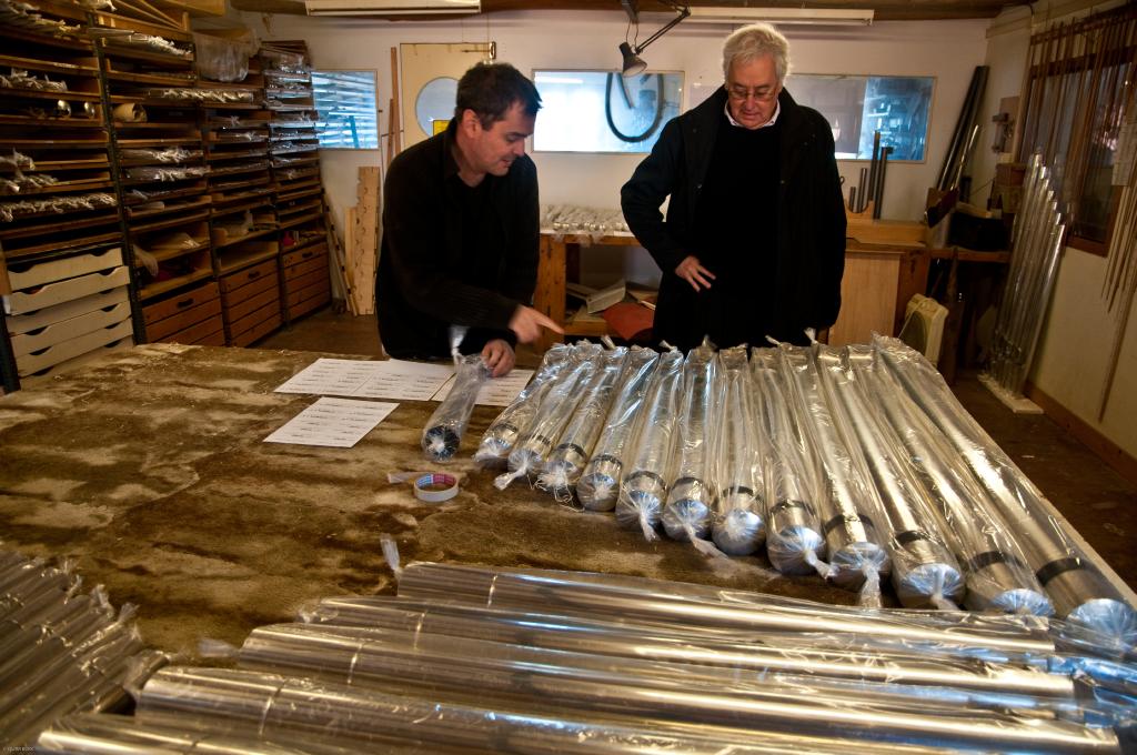 Restauració de l'orgue. Foto: Quim Boix / Diputació de Barcelona