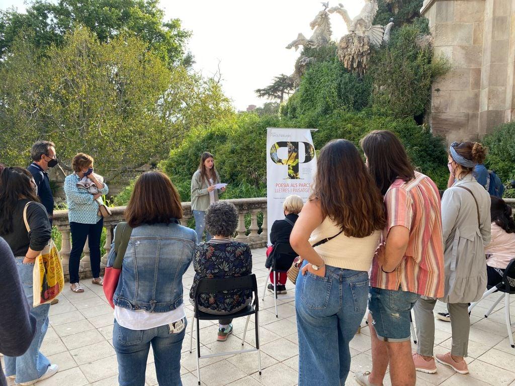Anna Gas al recital inaugural del 16è cicle Poesia als Parcs Foto: Diputació de Barcelona