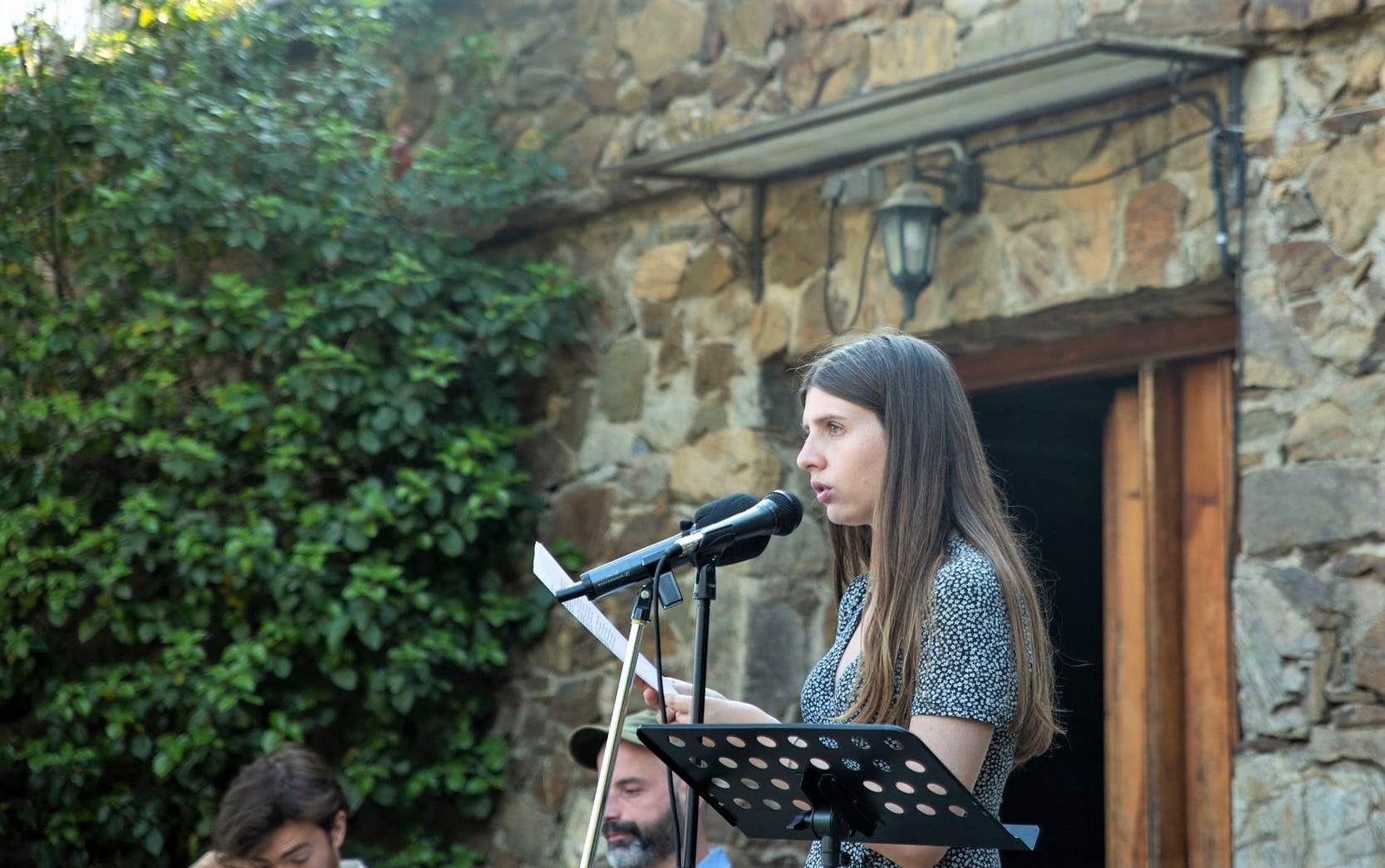 Anna Gas al cicle Poesia als Parcs Foto: Diputació de Barcelona