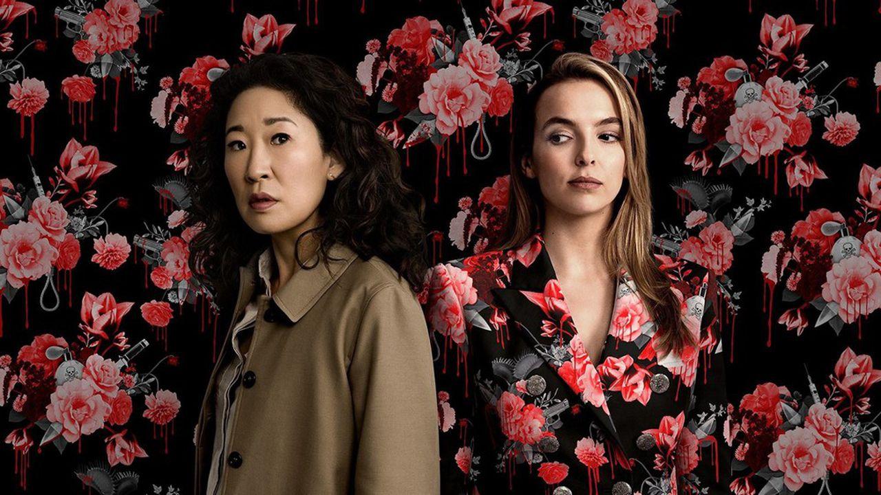 Les actrius Sandra Oh (Eve) i Jodie Comer (Villanelle), protagonistes de Killing Eve. Foto: HBO