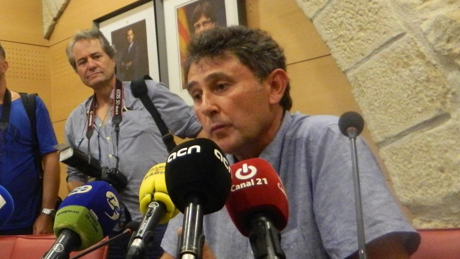 Joaquim Paladella durant el darrer ple municipal de Batea