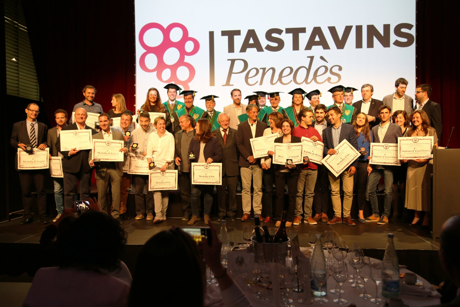 Guanyadors de l'edició 2017 del concurs Tastavins Penedès