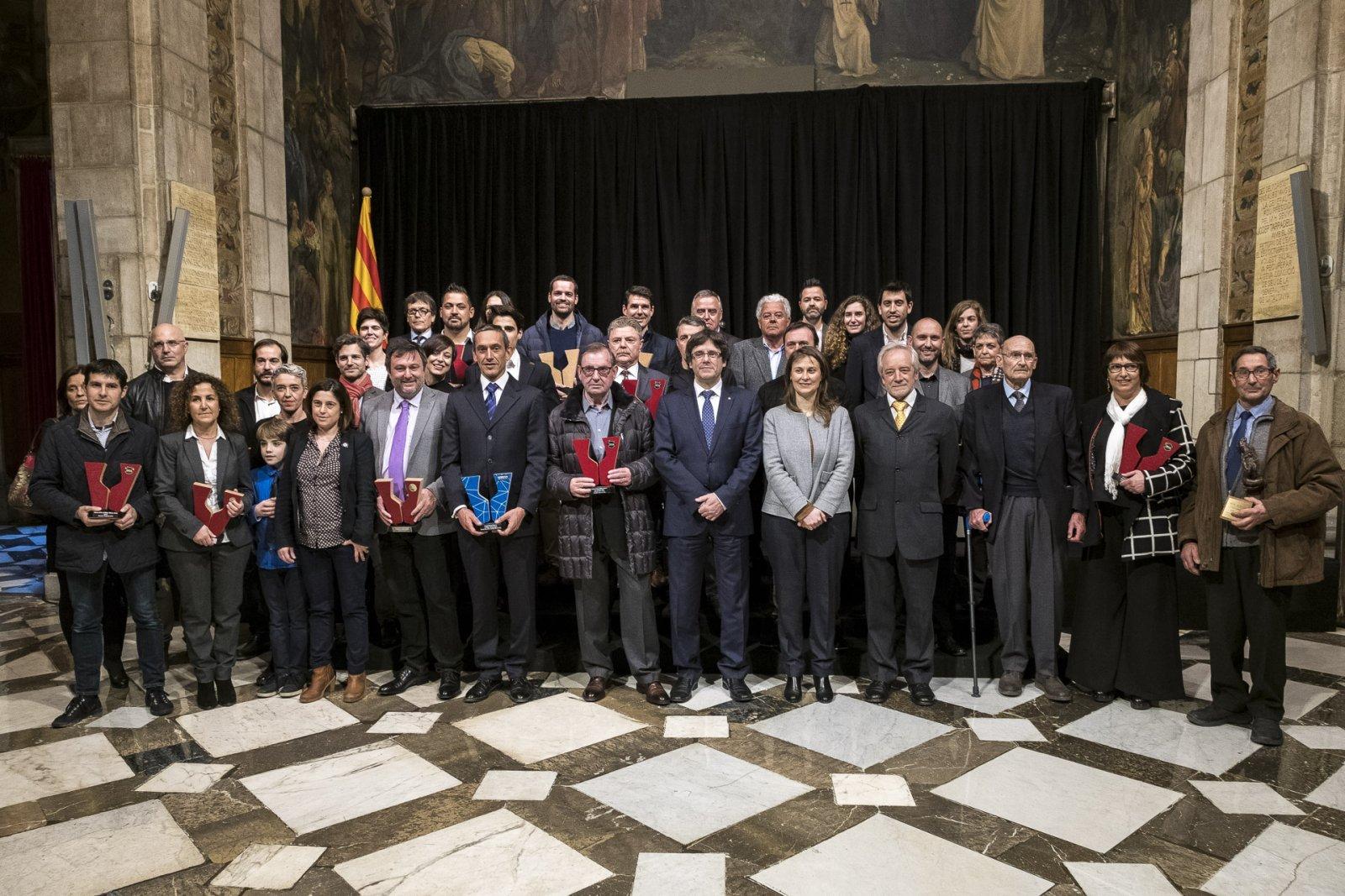 Recepció dels Premis Vinaris 2016 al Palau de la Generalitat