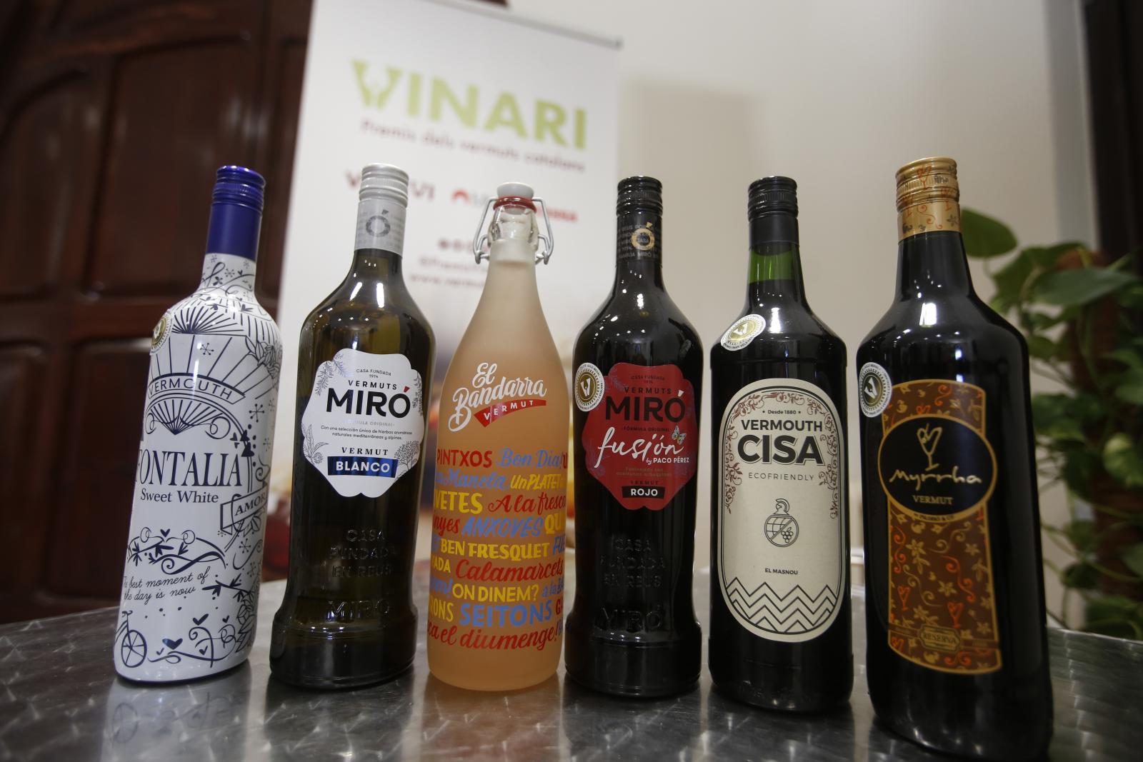 Els vermuts guanyadors amb un Vinari d'Or a la cinquena edició dels Premis Vinari