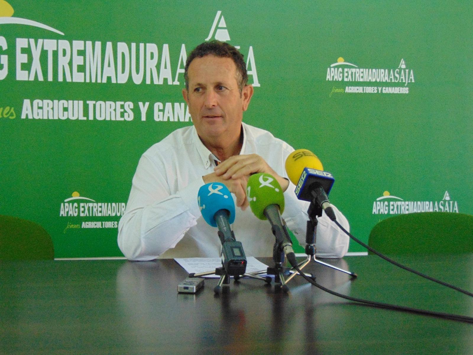 Juan Metidieri, el el president d'APAG Extremadura Asaja