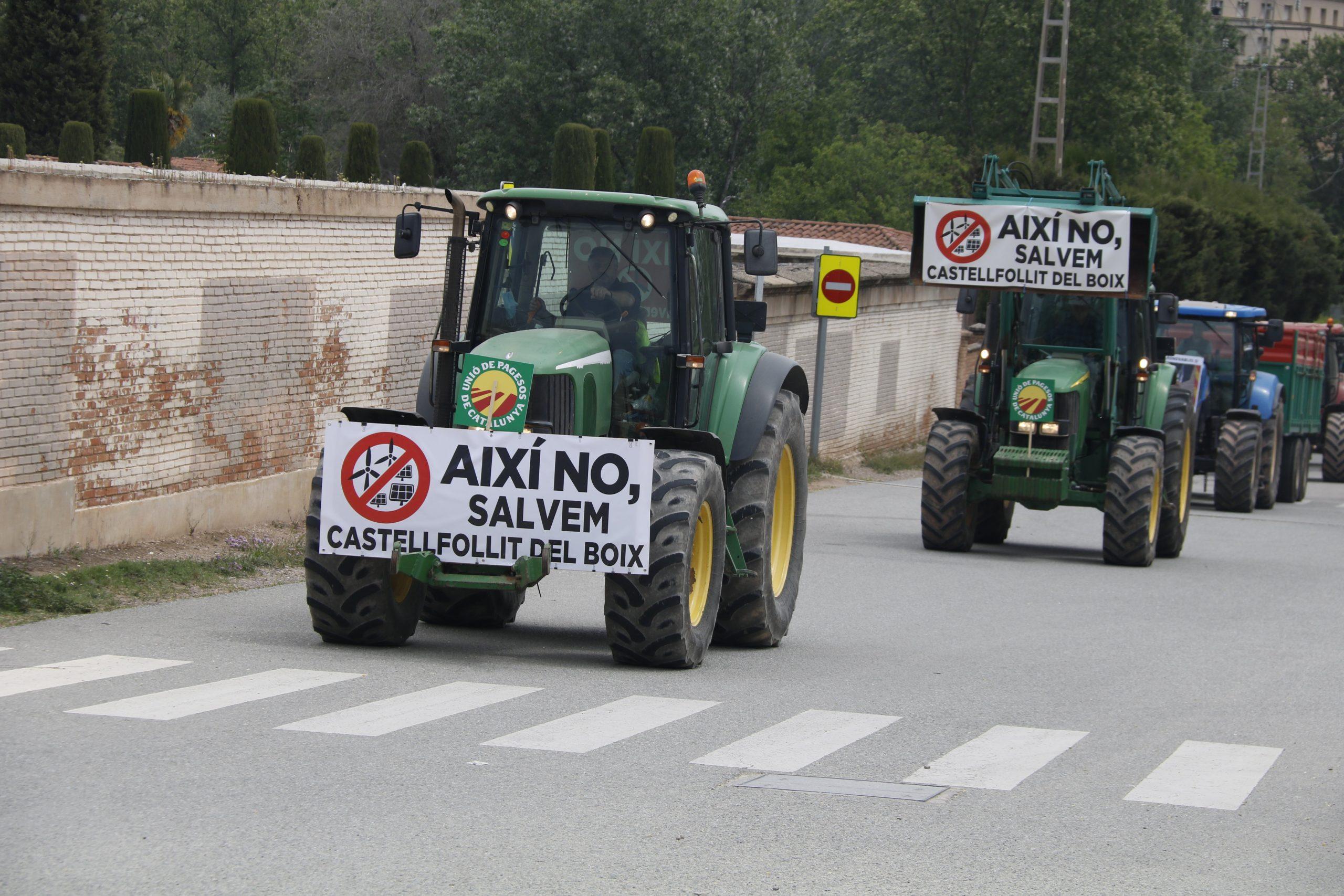Tractors a Manresa, durant la protesta |ACN