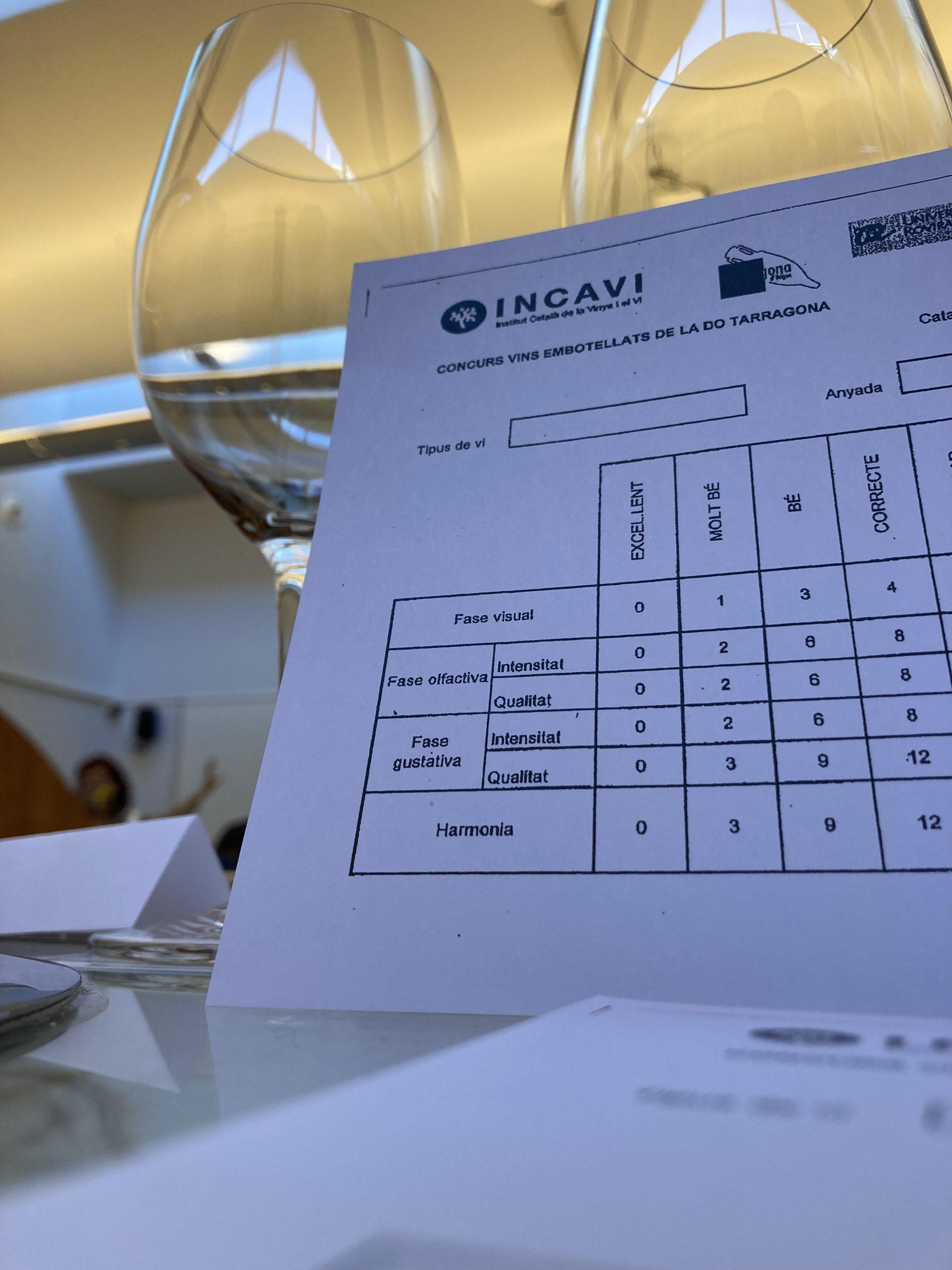 Concurs de vins embotellats de la DO Tarragona | E.V.