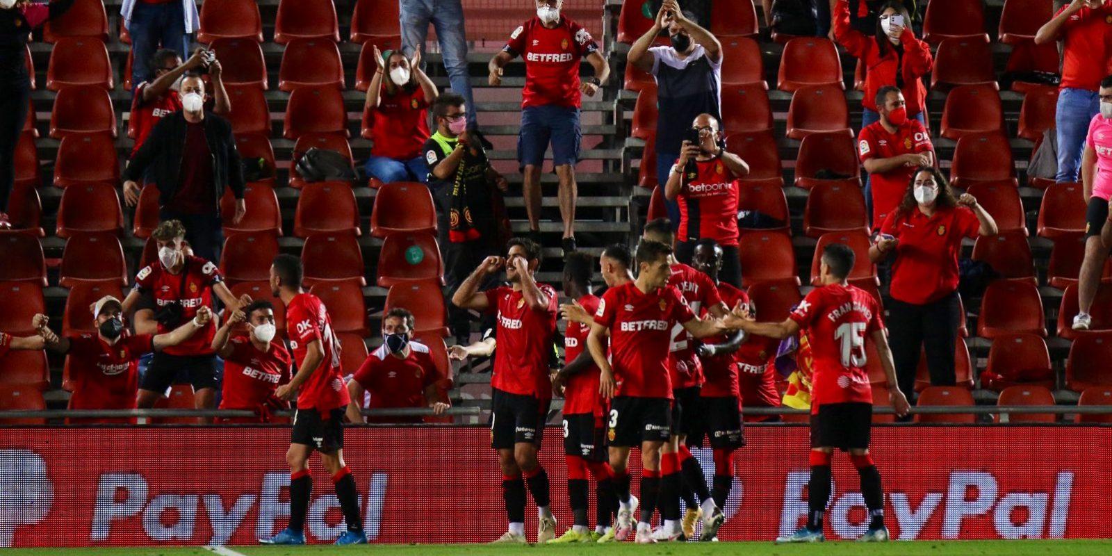 Els jugadors del Mallorca celebren un gol   RCD Mallorca