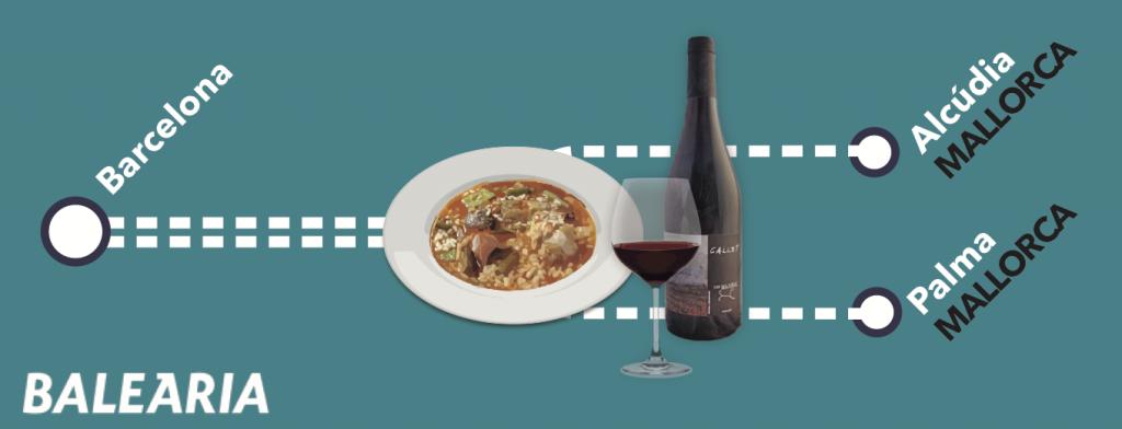 Maridatge de vins i gastronomia, amb Baleària   Jordi Català