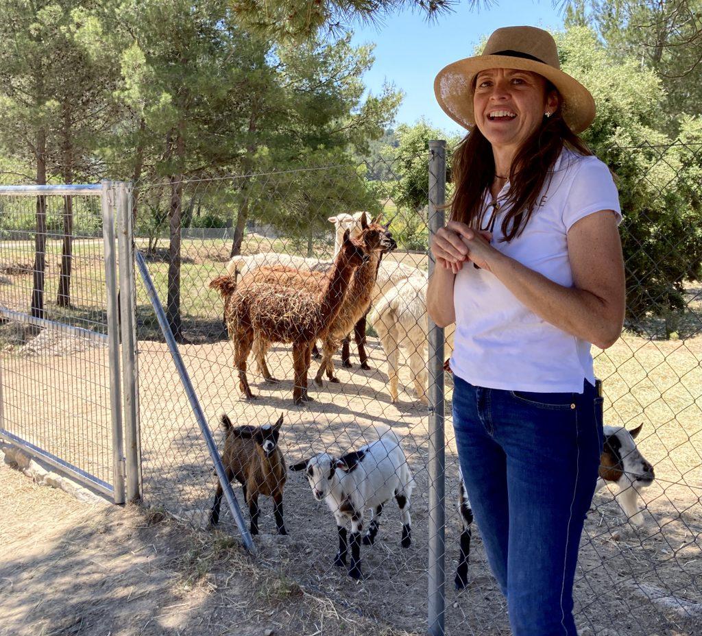 Lucía Pombo i les alpaques, al seu projecte de Can Marlès