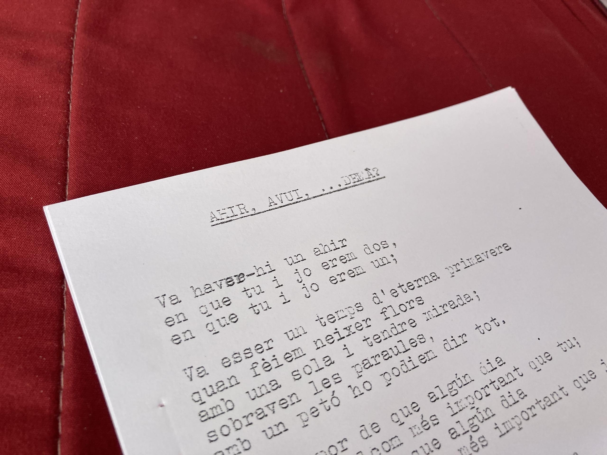 Poemes escrits per l'enòleg Àngel Garcia Petit a primers dels anys vuitanta |E.V.