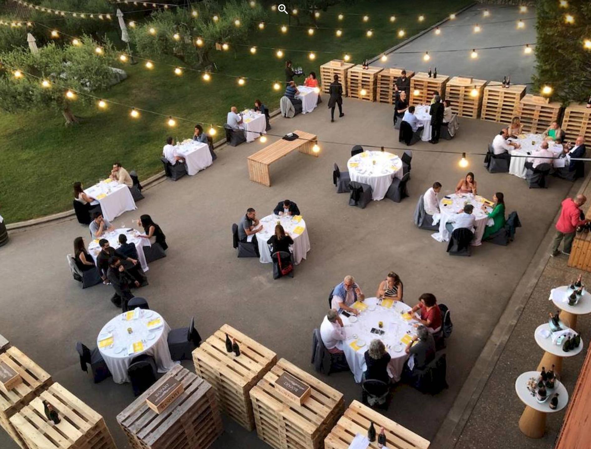 Imatge d'un dels sopars del 1r Festival Corpinnat celebrat l'estiu de 2021 | Corpinnat