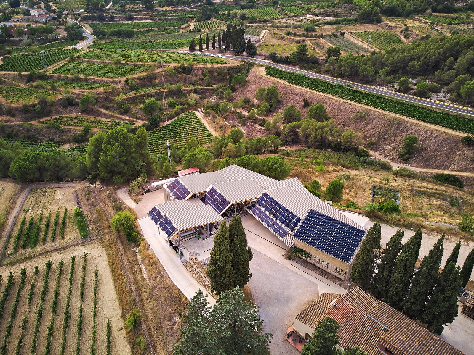 Albet i Noya ha instal·lat plaques solars sobre el nou Celler de l'Era | cedida pel celler