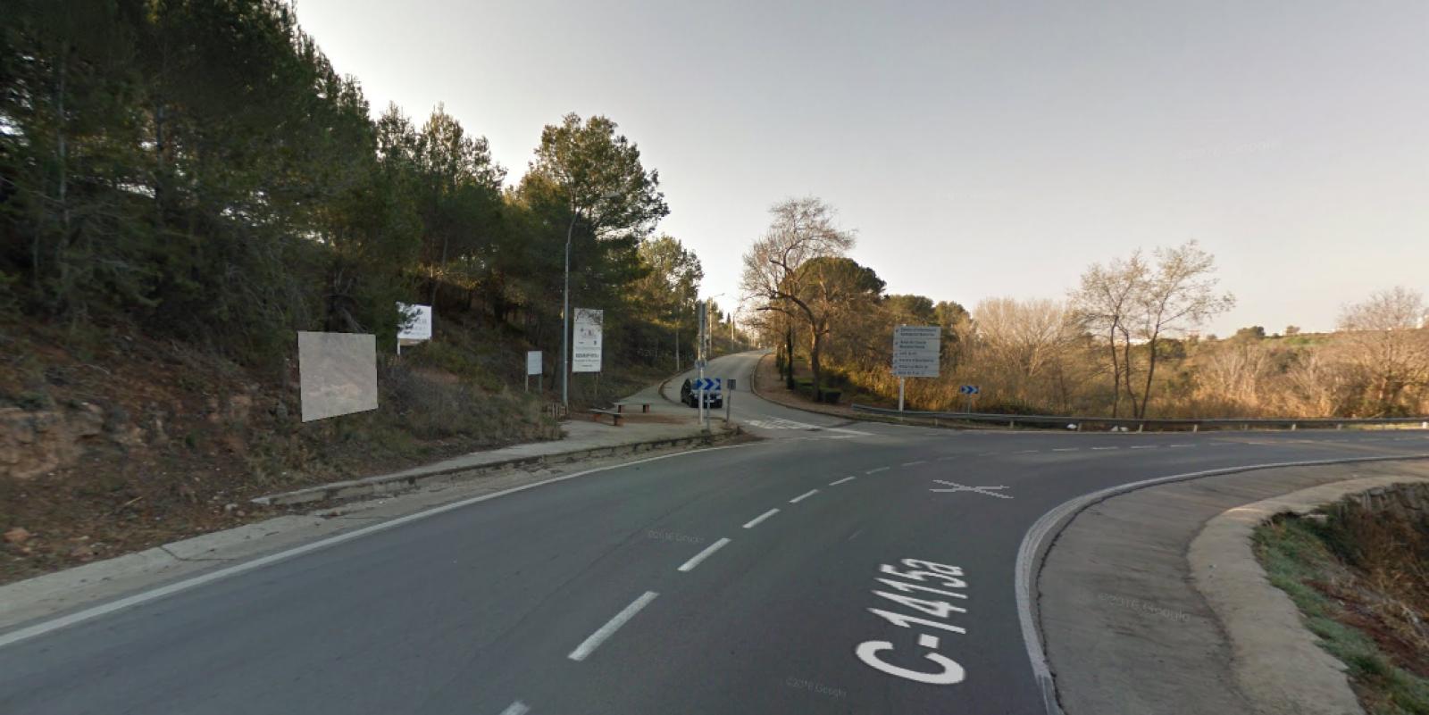 Carretera de Castellar a la cruïlla amb Mossèn Homs
