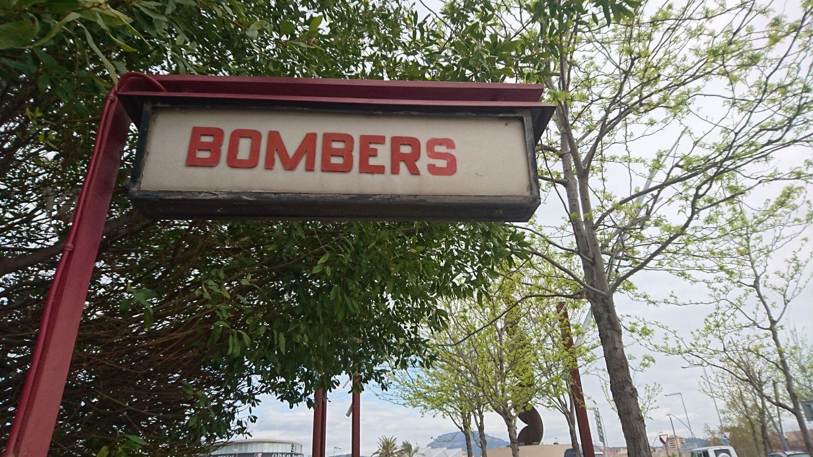 Cartell del Parc de Bombers de Terrassa