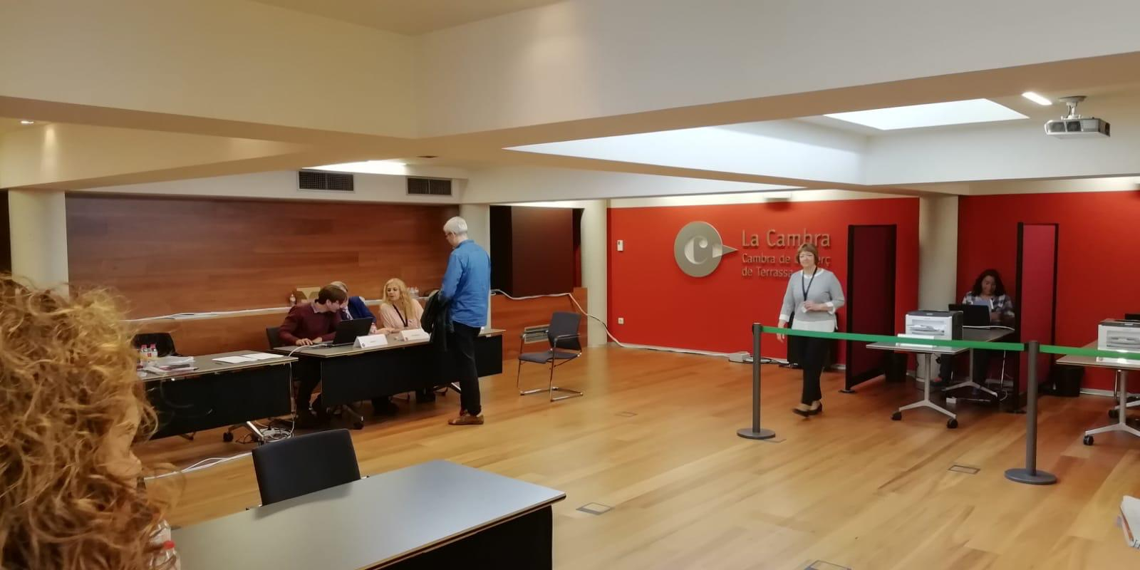 Les eleccions presencials a la Cambra de Terrassa s'han obert i tancat aquest dimecres