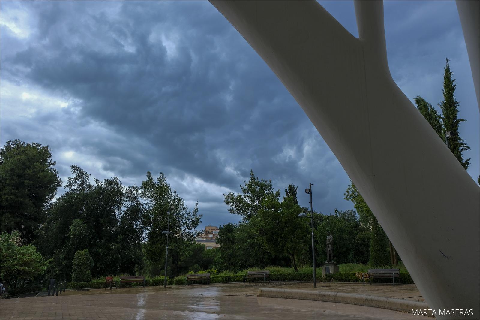 La tempesta des del Parc de Sant Jordi