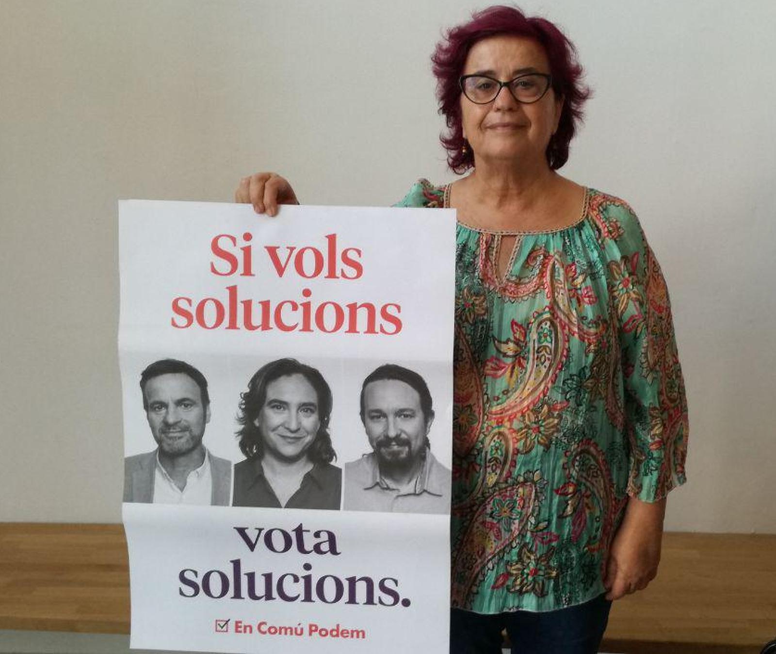 Mercè Gómez, és la candidata número 13 a Barcelona per En Comú Podem