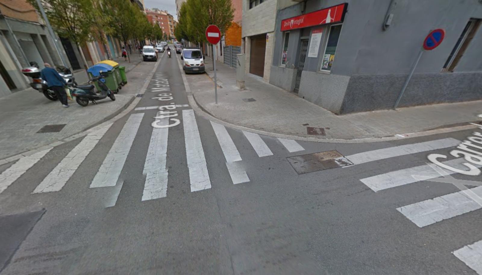cruïlla de la carretera de Matadepera amb el carrer de Roca i Roca