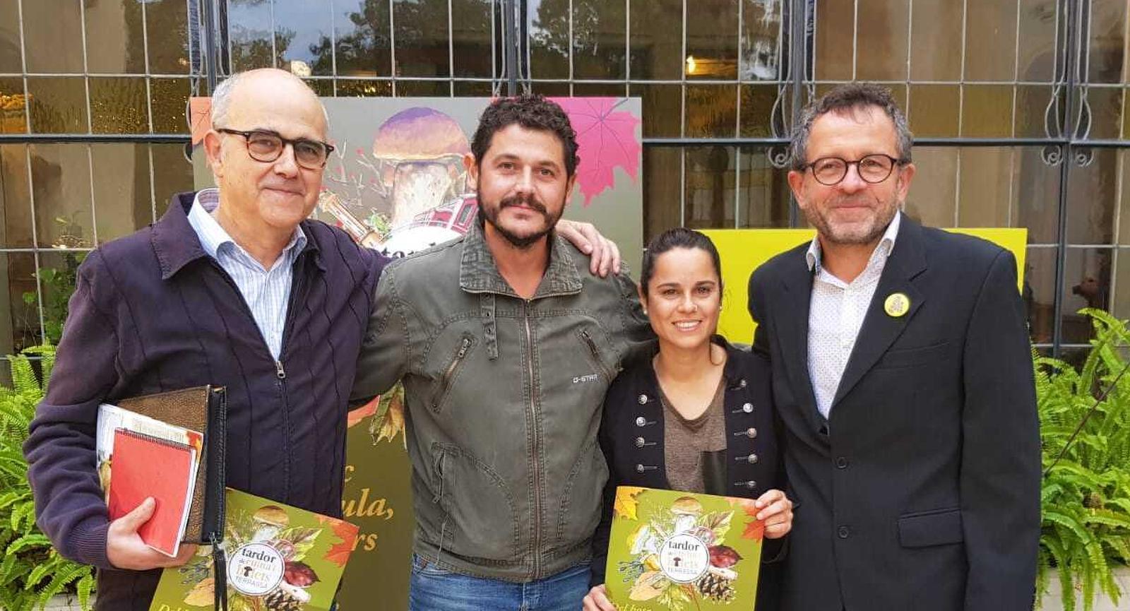 Torras, Gómez, Ramírez i Forn, en l'acte de presentació de la campanya