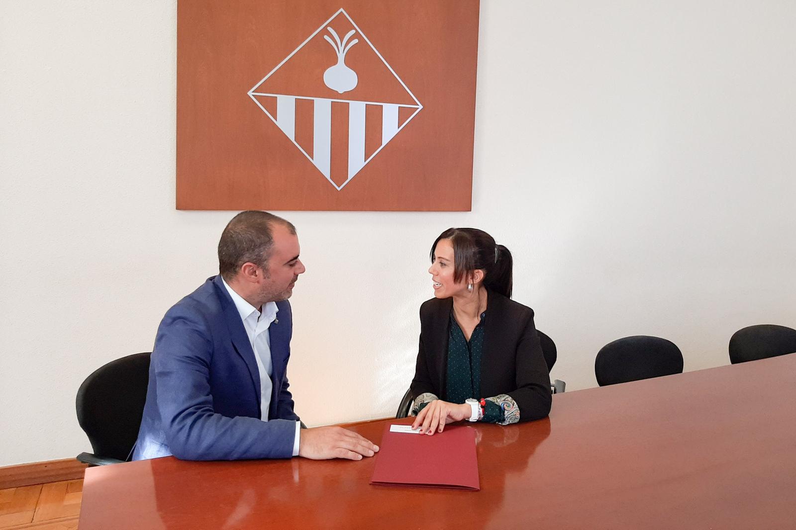 Ballart amb Farrés en la trobada a l'Ajuntament de Sabadell