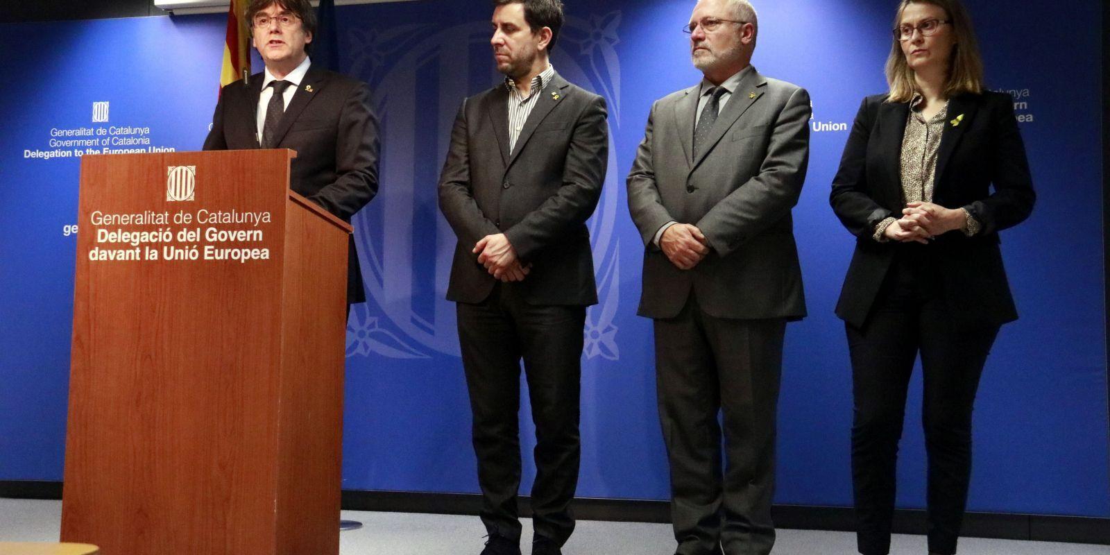Compareixença a Brussel·les del president a l'exili i els consellers