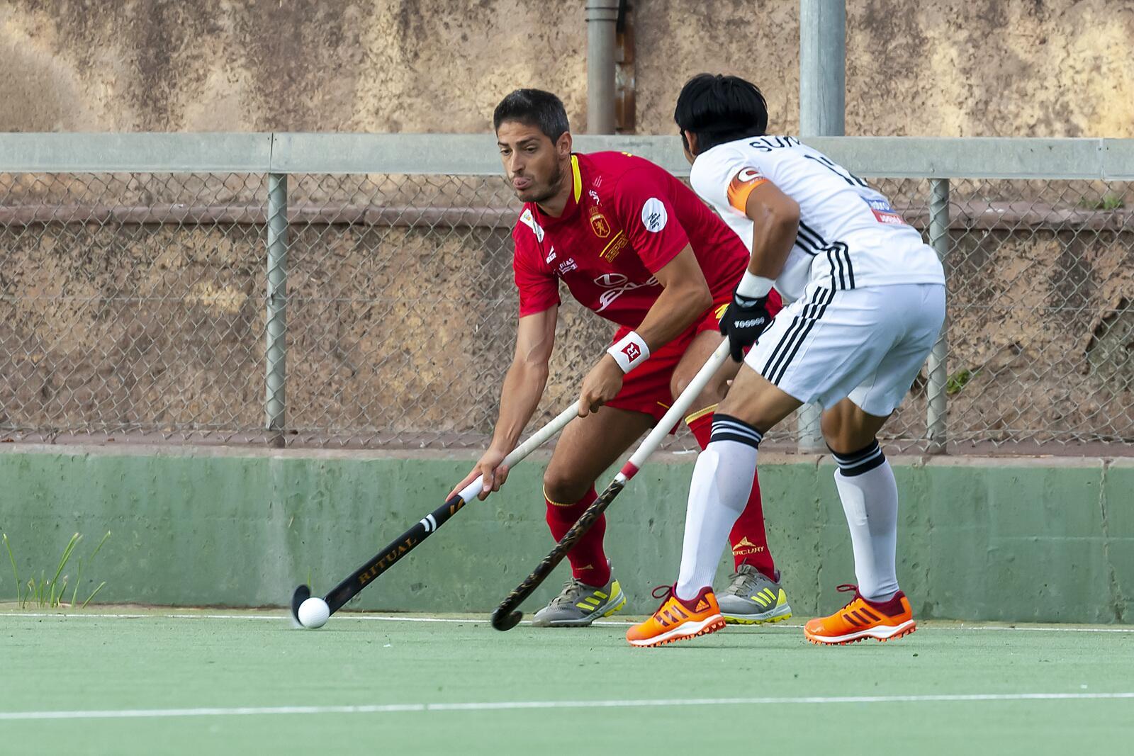 Una jugada del partit de la selecció espanyola contra Malàisia