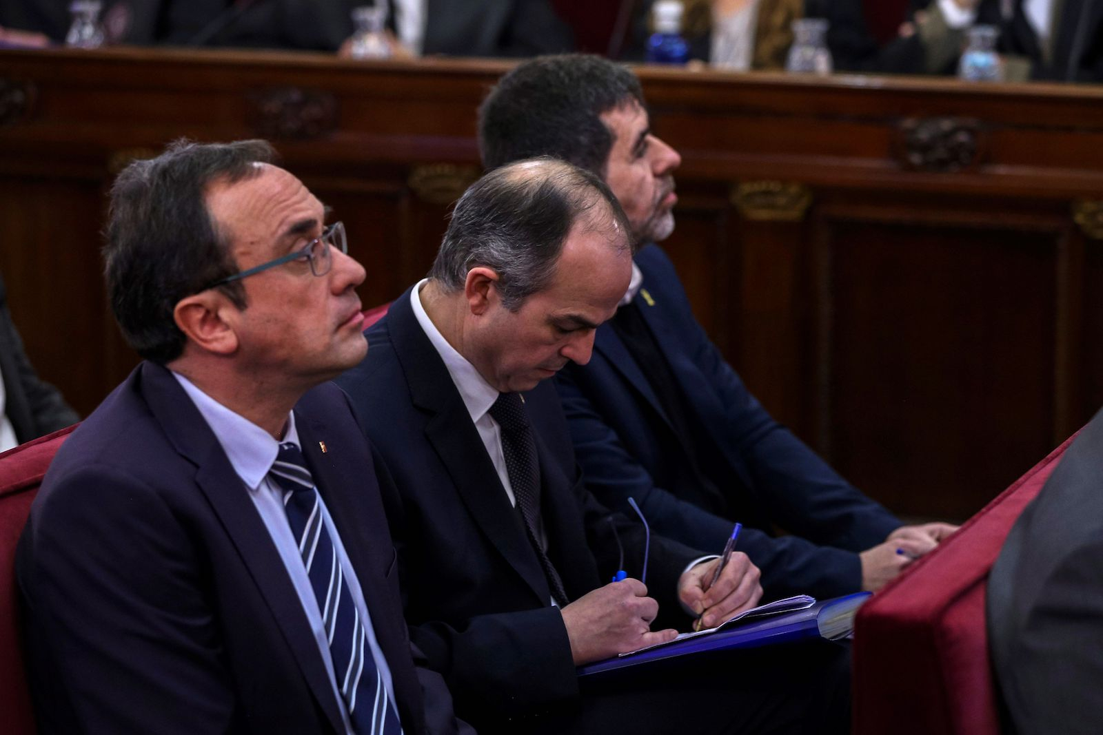 Josep Rull, Jordi Turull i Jodi Sànchez, la primera jornada del judici