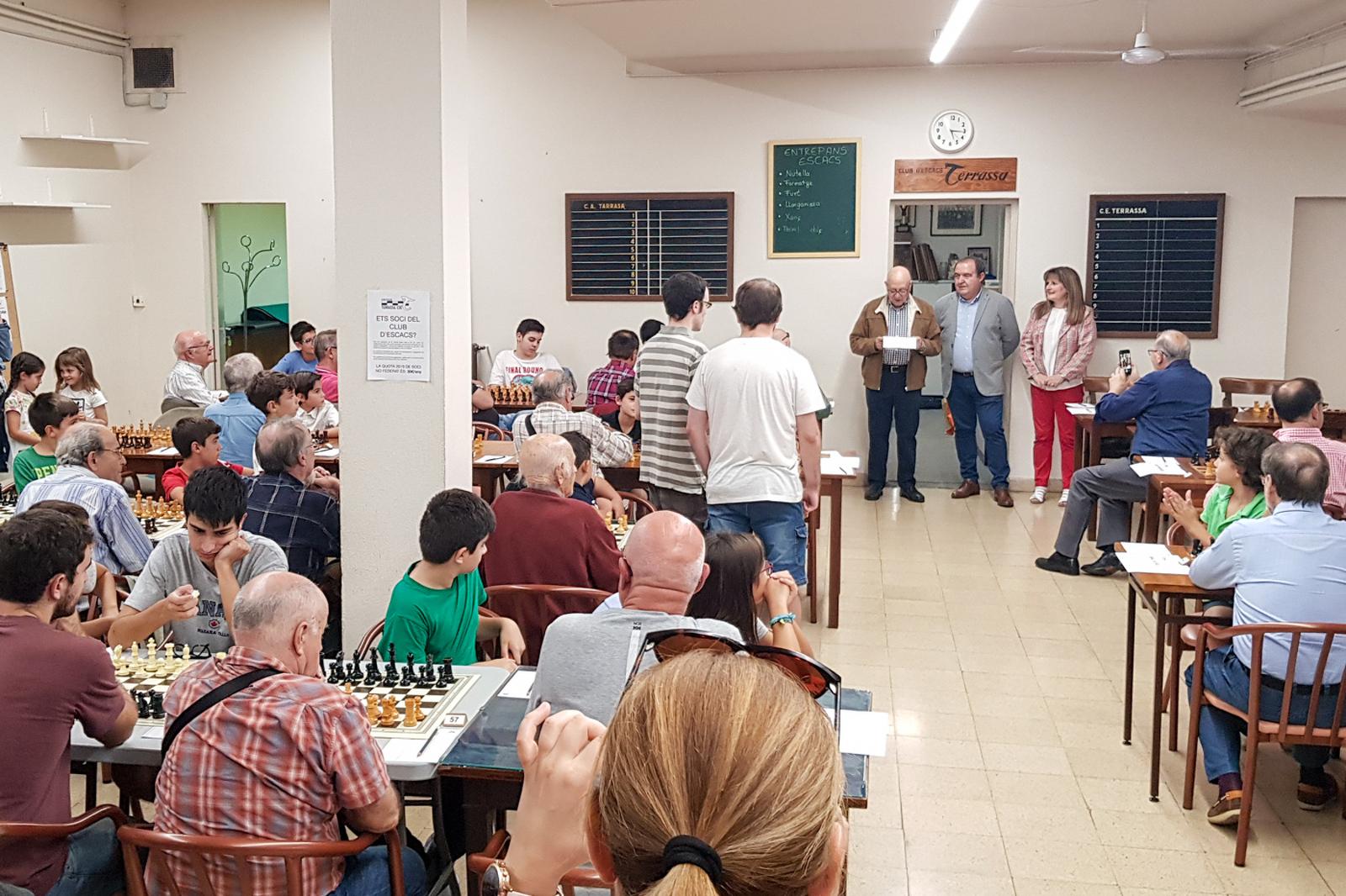 Moreno, a la trobada intergeneracional d'escacs